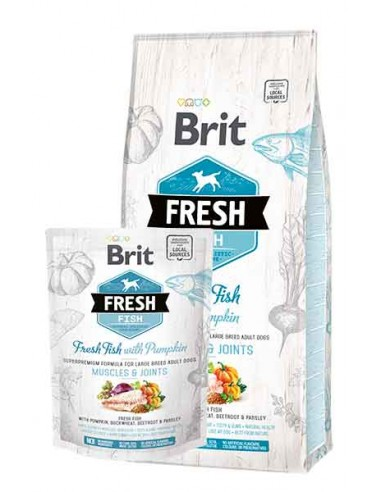 Brit fresh Adulto large Pescado y...